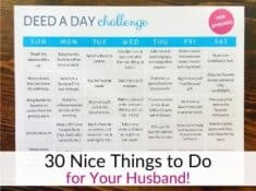 Nice things to do for your husband - 30 day marriage challenge