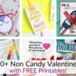 Non candy Valentines with Free Printables!
