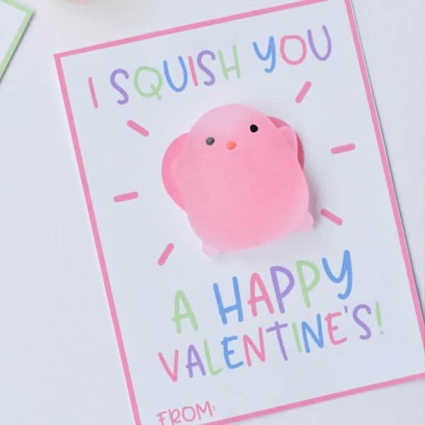 Squishy Valentine Cards- Fun Printable Valentines For Kids |