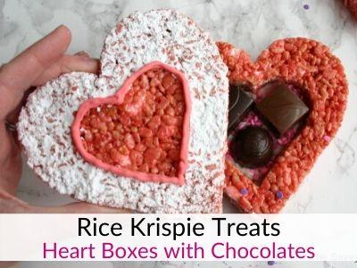 Valentine's Rice Krispie Treats Heart Boxes
