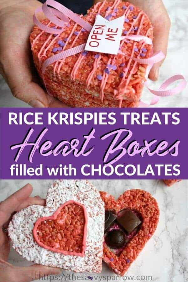 Valentines Rice Krispie Treats heart shaped boxes!