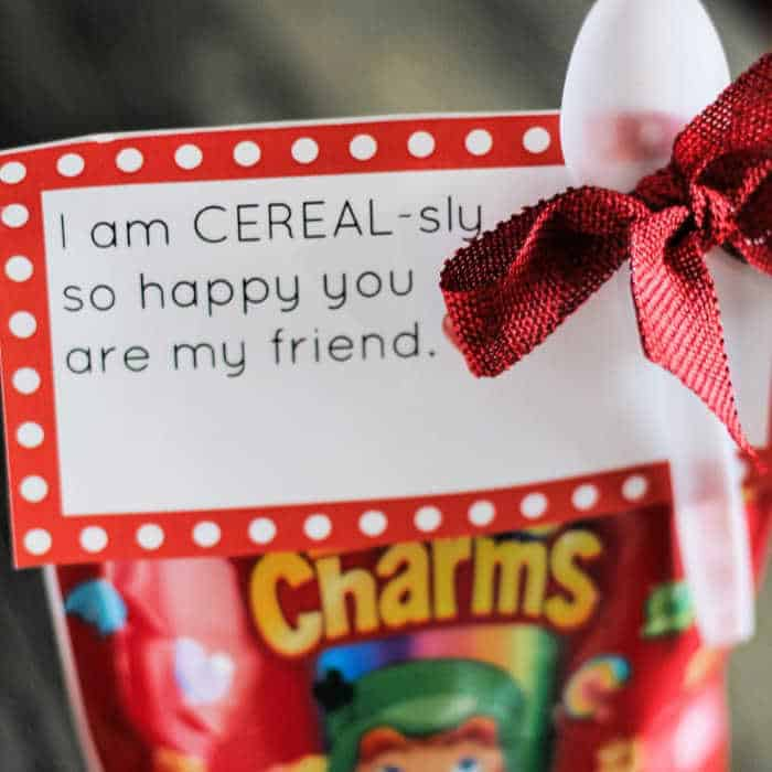 Cereal Homemade Valentines