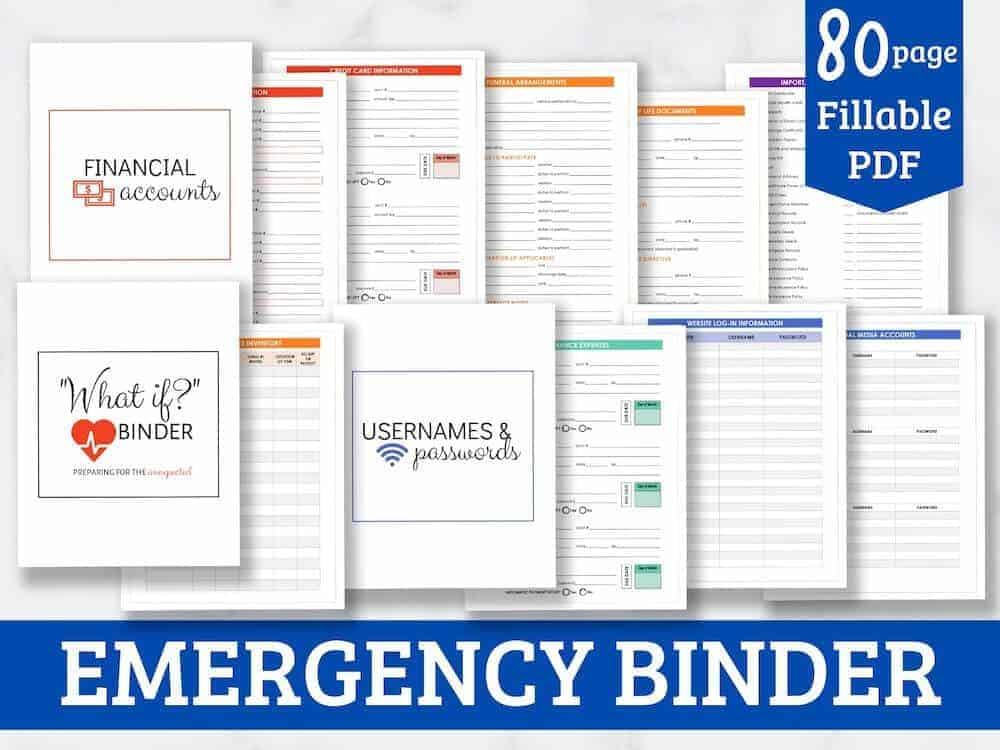 emergency binder product graphic