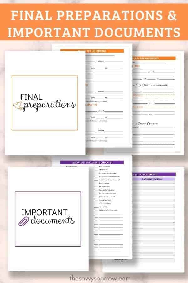graphic of emergency binder PDF pages