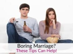 Boring marriage - bored couple watching tv