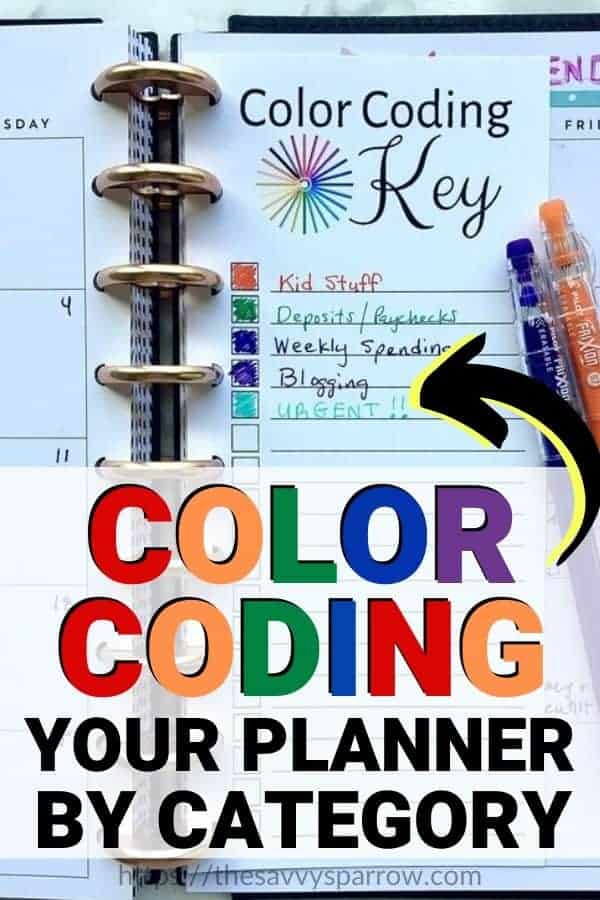 Color Coding Planner with Planner Categories