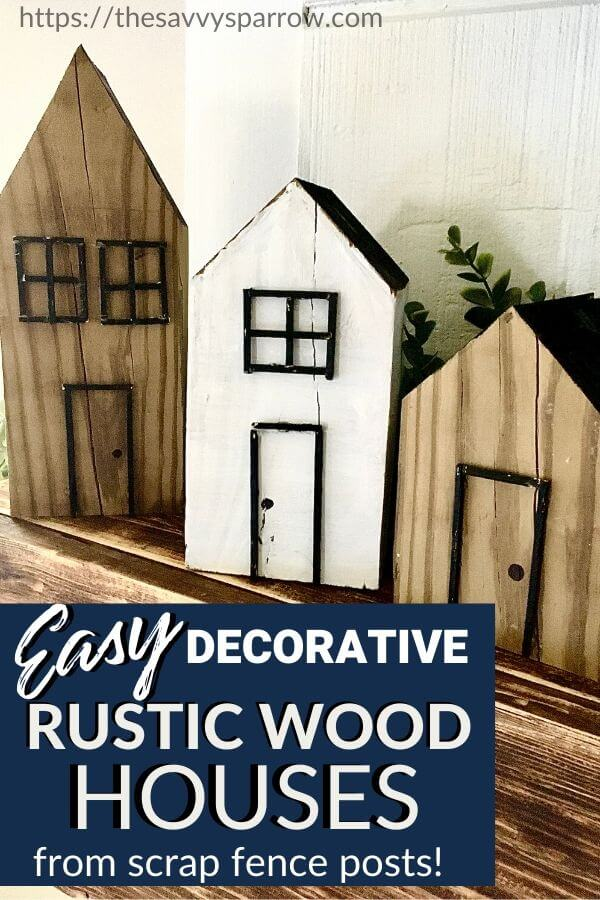 DIY Decorative Wooden Houses - Easy Scrap Wood Projects!