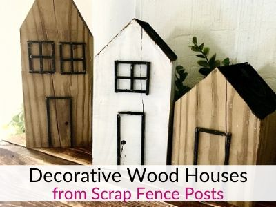 DIY Decorative Wooden Houses from Scrap Wood