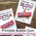 Extra Bubble Gum Valentines Cards
