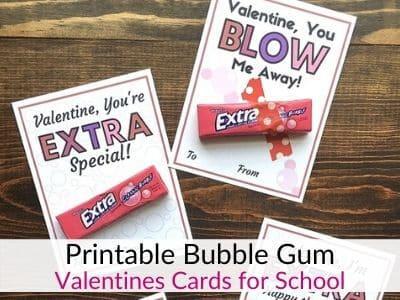 Bubble Gum Valentines for Kids