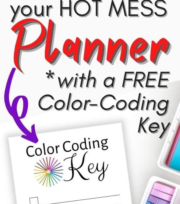 printable color coding key for color coding a planner