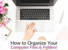 How to organize computer files - Declutter Computer!