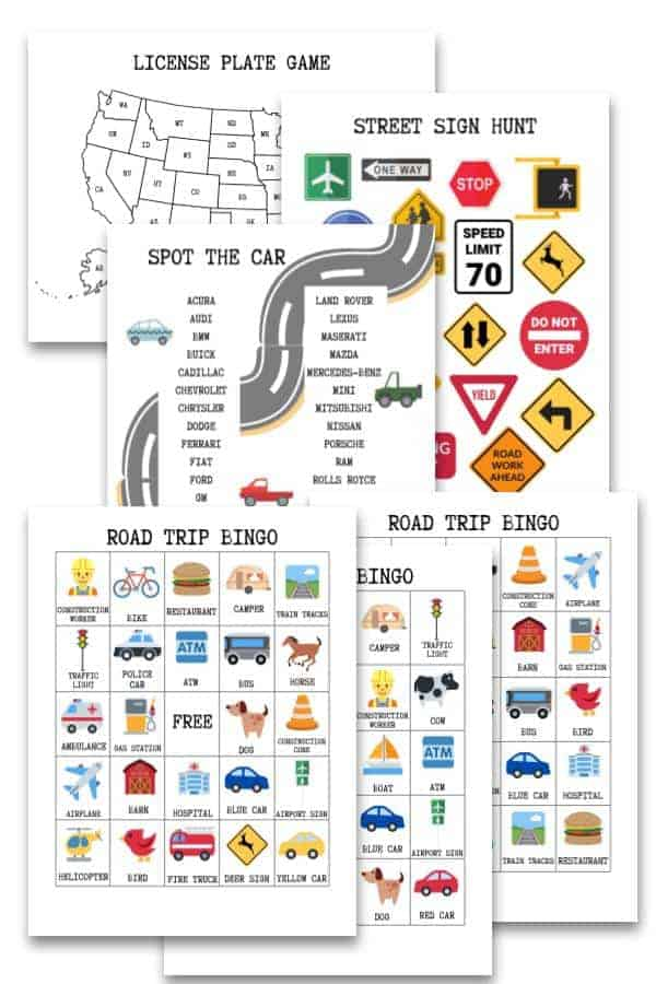 Road trip games you can print at home!