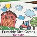 Roll and Cover Dice Games - Printable for Kids!