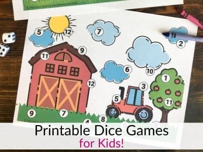 Free Printable Roll and Cover Dice Games for Kids