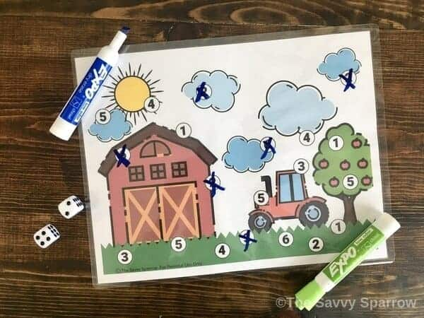 Roll and Cover Games for Kids