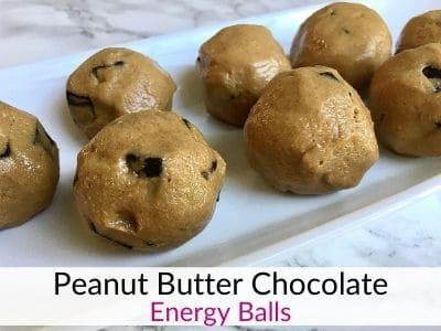 Healthy Peanut Butter Chocolate Energy Balls