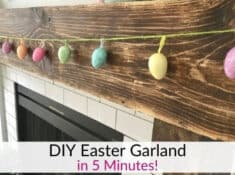 DIY Easter Egg Garland using Dollar Tree supplies!
