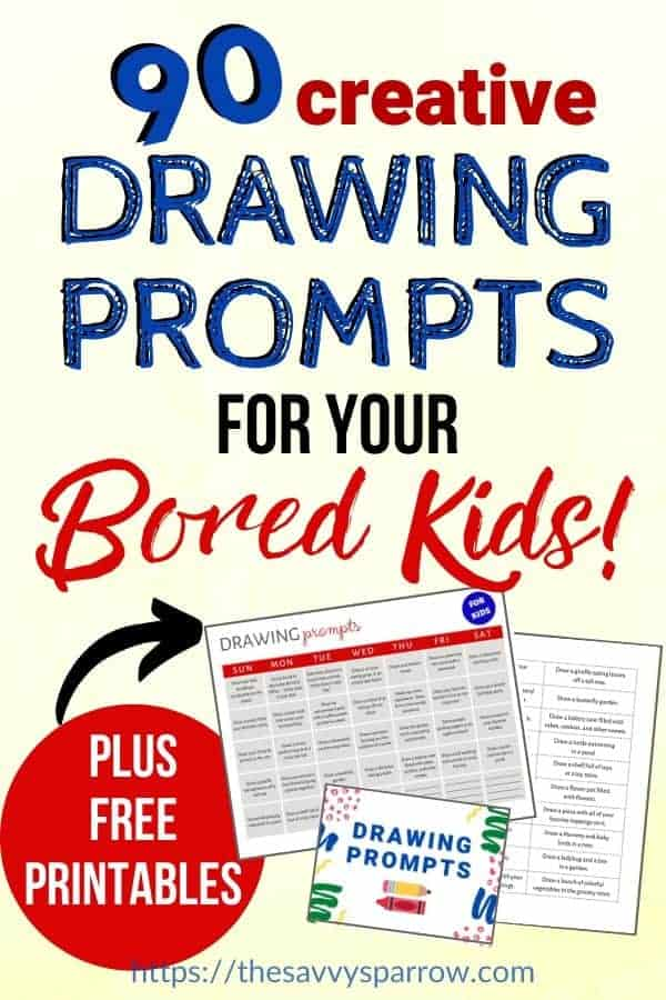 Drawing Prompts for Kids - Great boredom busters!
