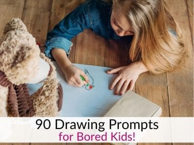 Drawing Prompts for Kids to Encourage Creativity – Three Months of Ideas!