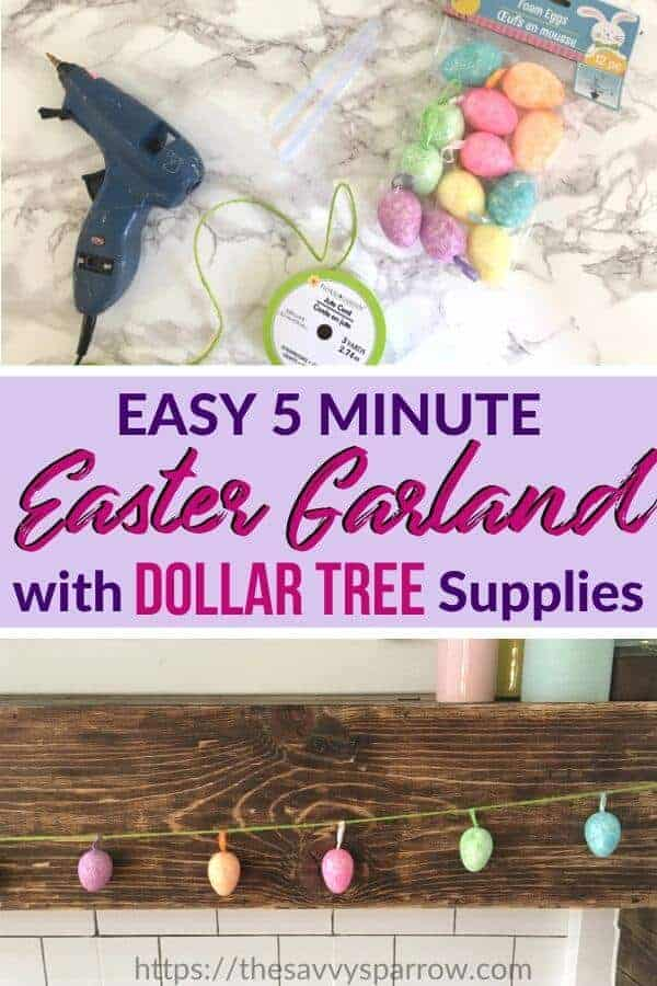 Easy DIY Easter Egg Garland with Dollar Tree Supplies!