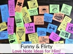Funny and flirty love note ideas for husband