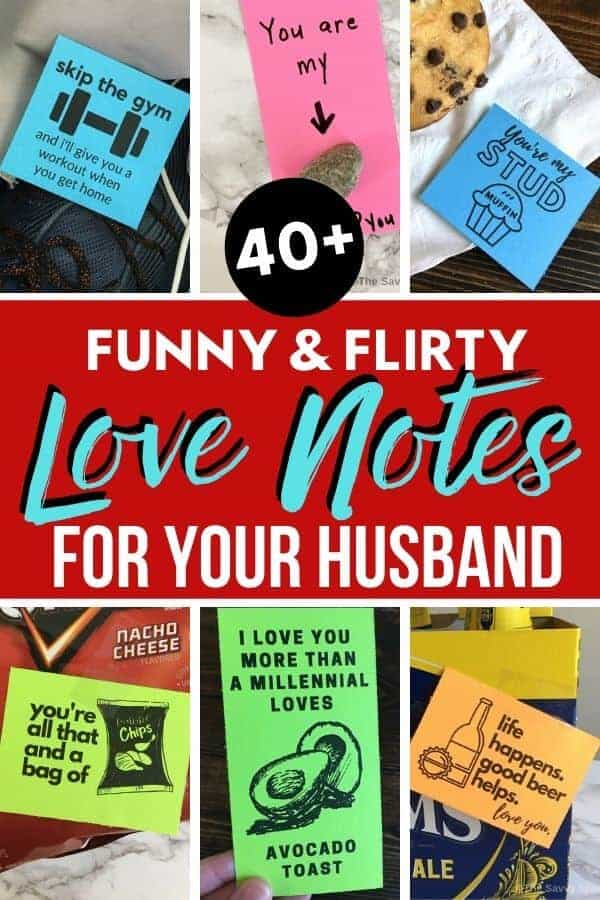 Love notes for your husband - funny and flirty love note ideas!