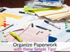 Organize Paperwork with this easy filing system for important papers!