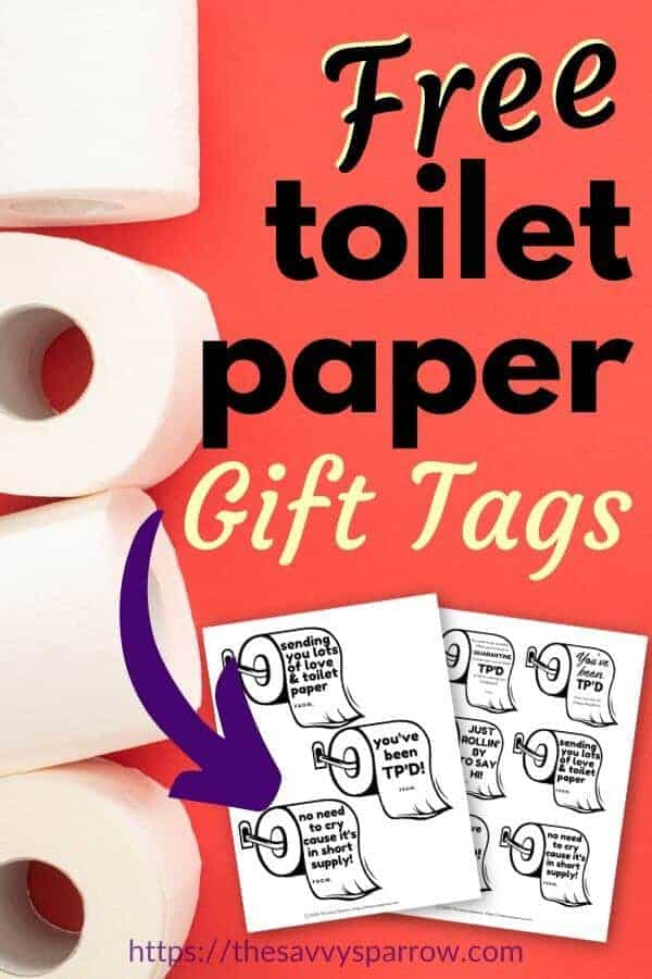 Toilet paper gift ideas with FREE printable TP gift tags!