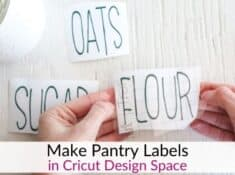 Pantry labels using Design Space