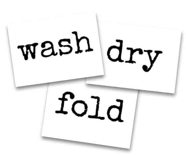 wash dry fold templates to make laundry room signs