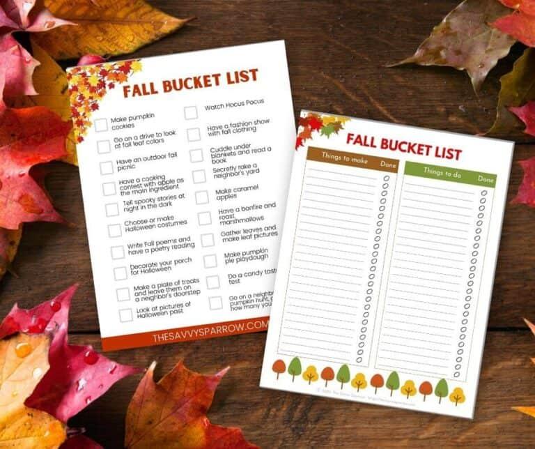 Fall Bucket List Ideas – Easy and Fun Fall Activities!