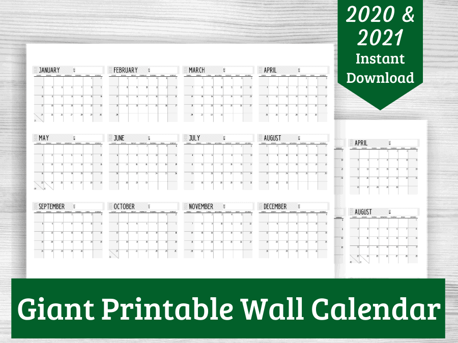 photo of giant wall calendar PDF