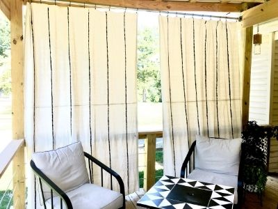 DIY Drop Cloth Curtains for Your Deck
