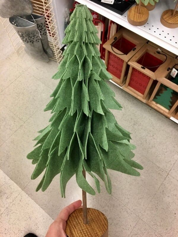 3D felt Christmas tree decor from JoAnn's Crafts store