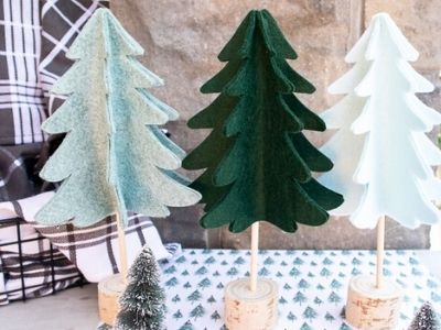 DIY Felt Christmas Trees with Christmas Tree Pattern