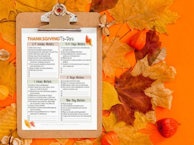 Thanksgiving Countdown Checklist with FREE Printable!