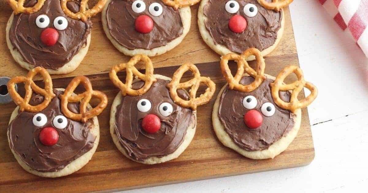cookies decorated like reindeer