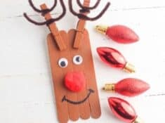Rudolph popsicle stick crafts for kids
