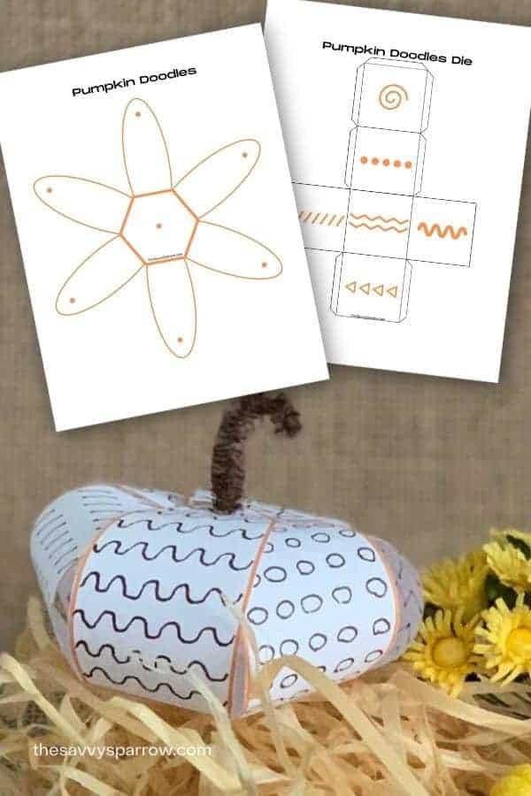 paper pumpkin doodle game for kids