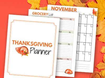 Printable Thanksgiving Planner to Get Organized for the Holidays
