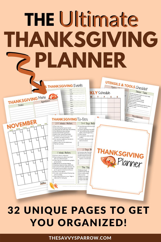 printable Thanksgiving planner mock up