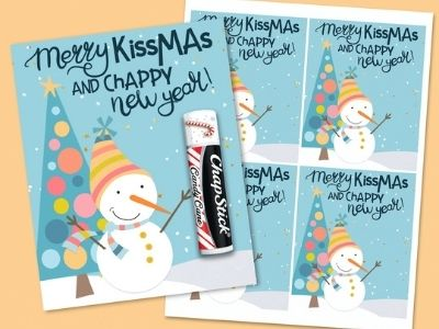 Merry Kissmas and Chappy New Year Gift Tags – Free Printable!