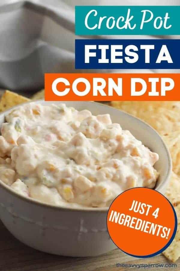 Crock pot fiesta corn dip