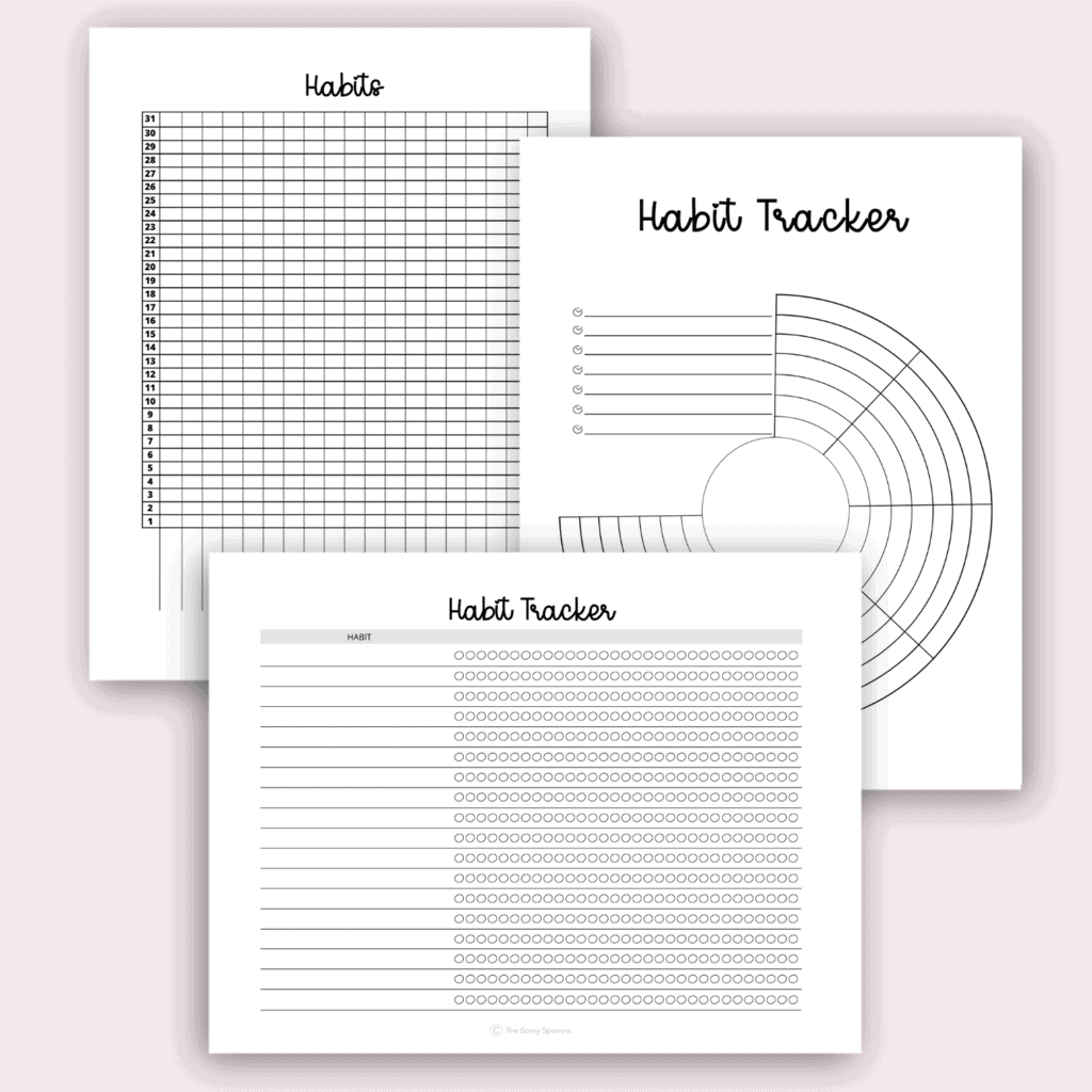 free printable habit trackers