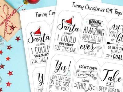 Free Printable Funny Christmas Gift Tags