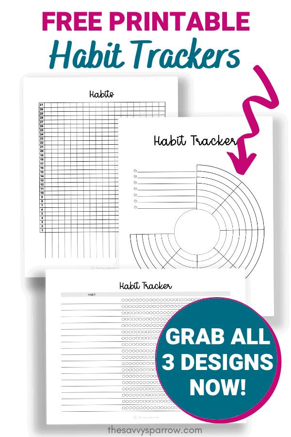 free printable habit trackers