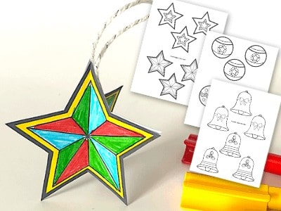 3D Paper Christmas Ornaments – Fun Crafts for Kids