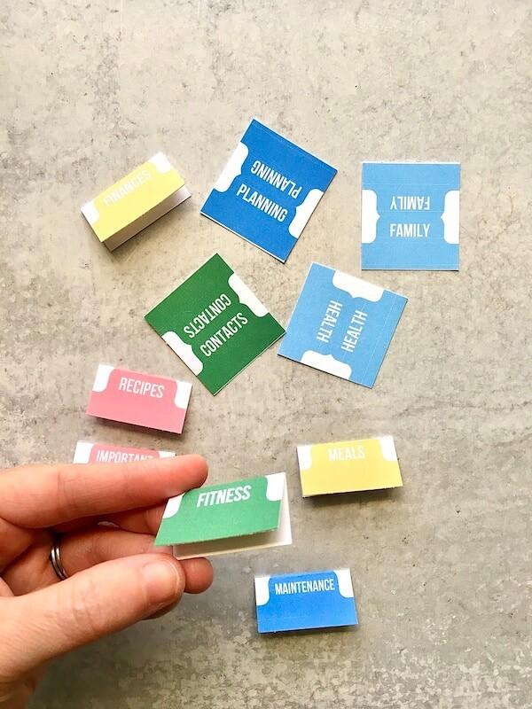printable binder dividers being made