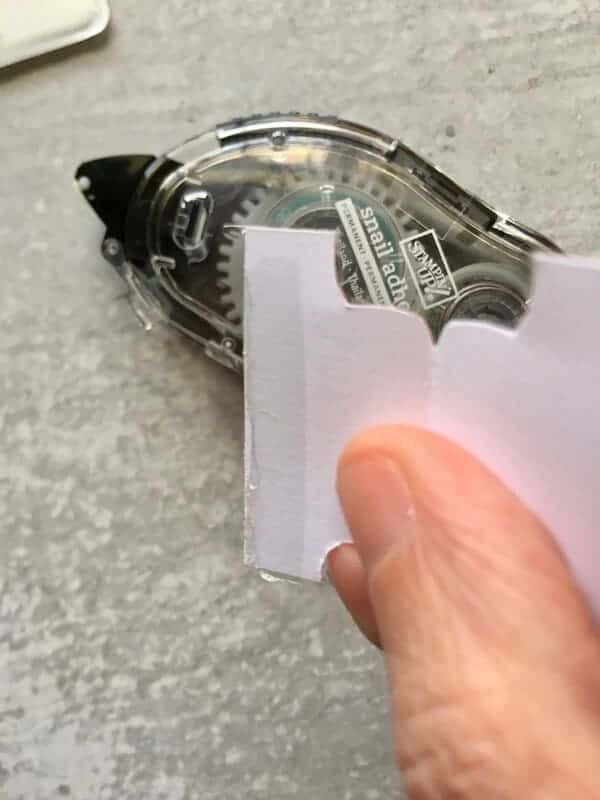 tape on a divider tab